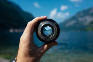 obiettivo fotografico e panorama