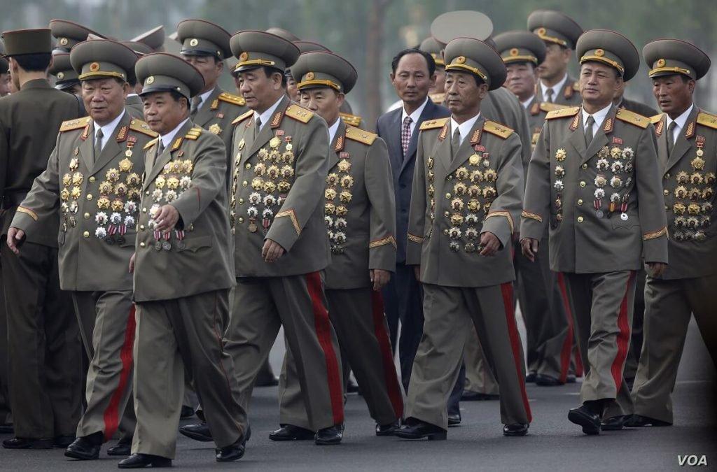 L'intero apparato militare del Korean People's Army