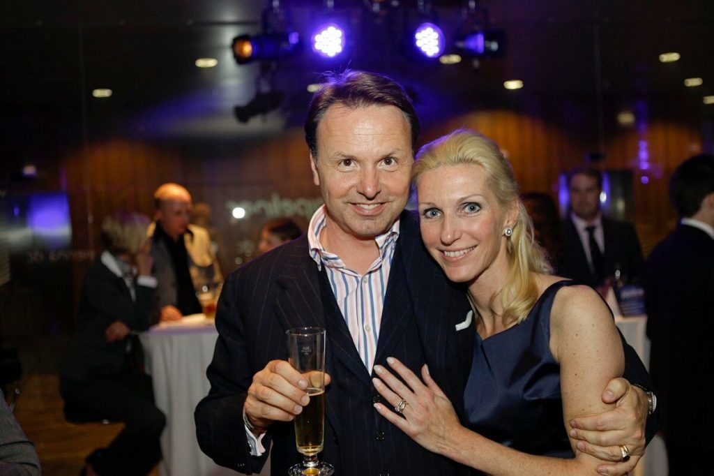 Nikolaus Kimla insieme alla moglie