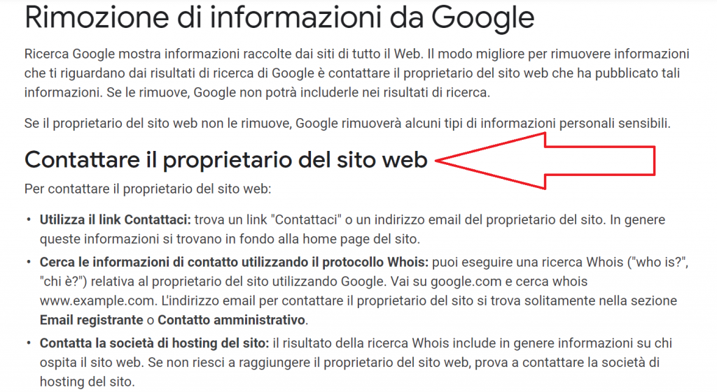 Come eliminare URL da Google guida reputationup