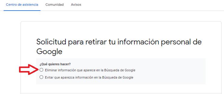 solicitud desindexacion google reputationup 2020