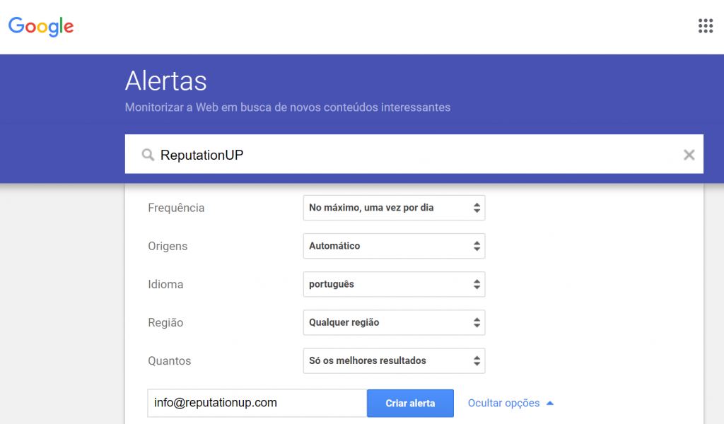 Alertas do Google O que é, como funciona, como ativá-lo reputationup