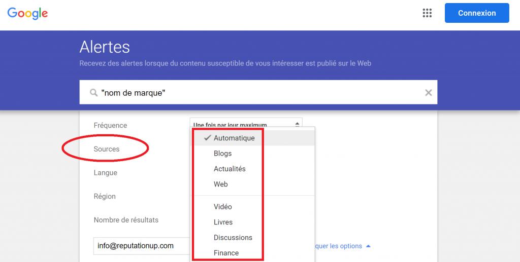 google alert fr pas deréseaux sociaux guide reputation up