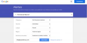 google alert france emmanuel macron reputationup guide