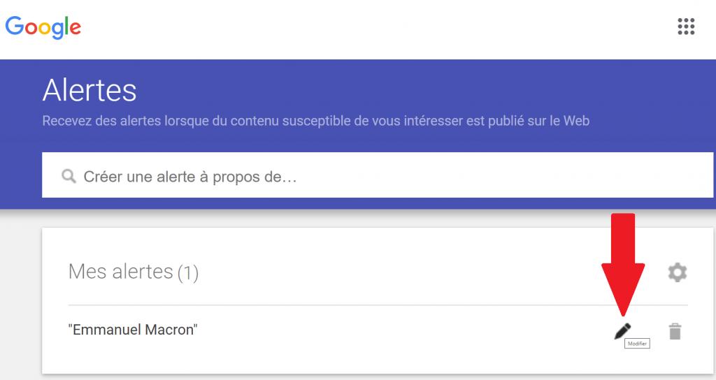 google alertes france guide reputation up