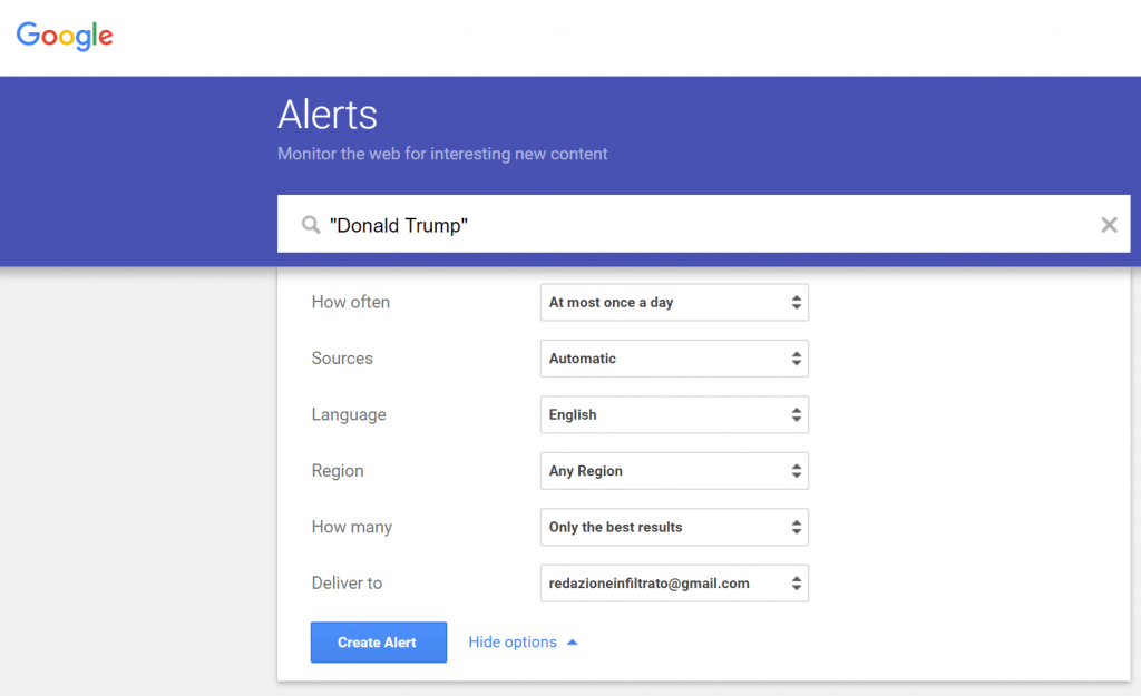 what is google alerts reputationup guide