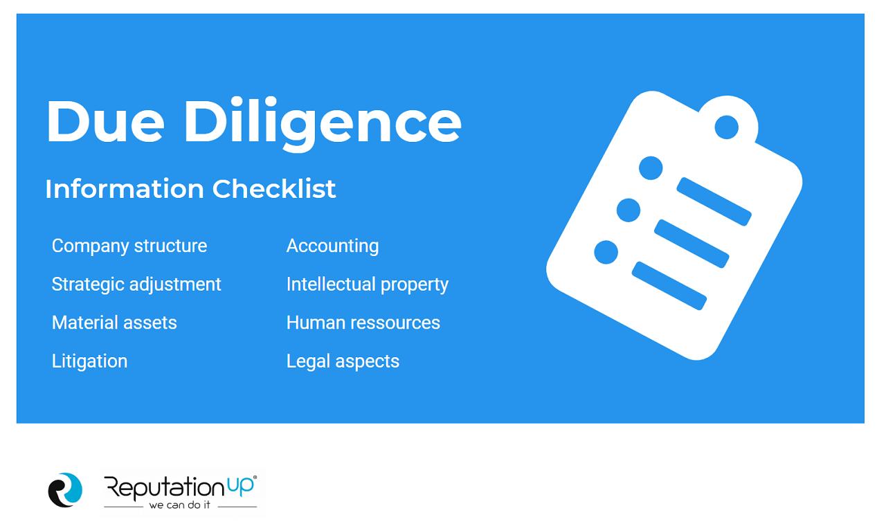 due diligence information checklist