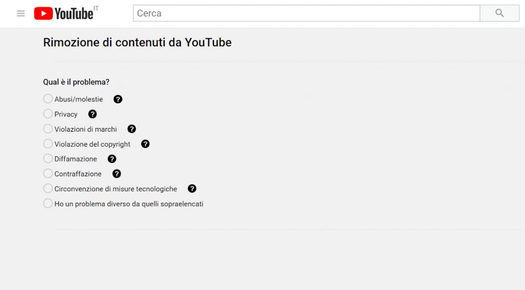 rimozione di contenuti da youtube guida reputationup