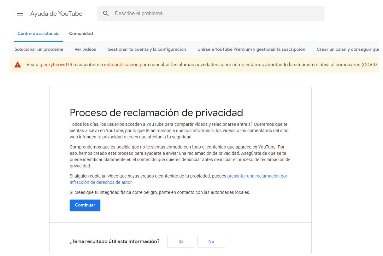 Cómo eliminar un vídeo YouTube Proceso reclamación ReputationUp