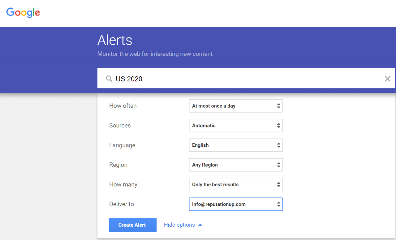 how to use google alerts to prevent reputation crises
