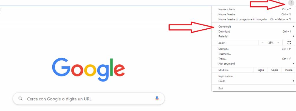 Come cancellare URL da Google Chrome