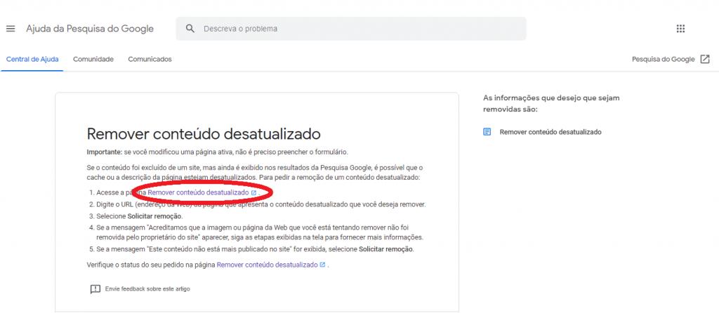 Como eliminar URL de Google guia reputationup