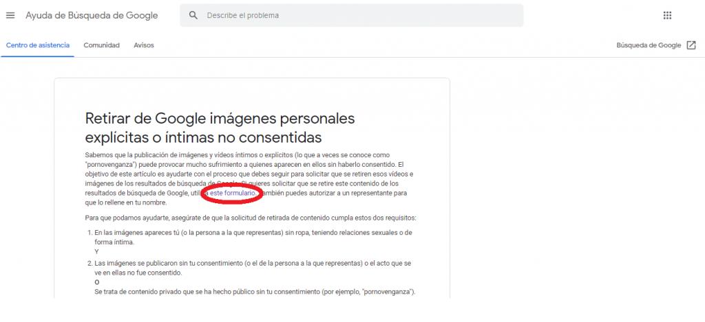 Cómo eliminar imágenes de Google guia reputationup
