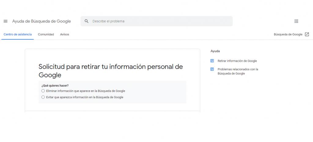 Cómo eliminar los resultados personales de Google guia reputationup