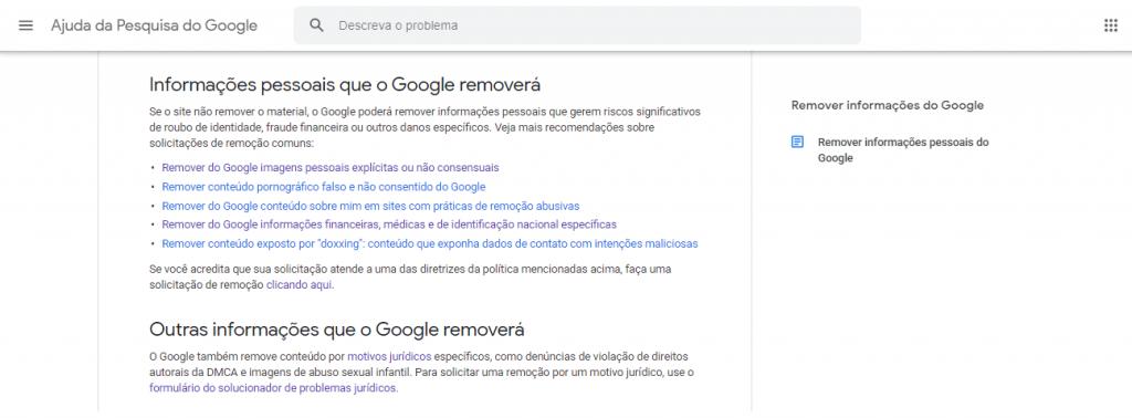Como remover imagens do Google guia reputationup