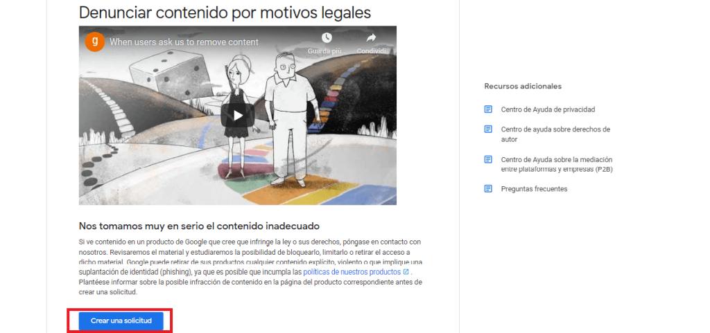 Cómo solicitar la eliminación de información de Google guia reputationup (2)