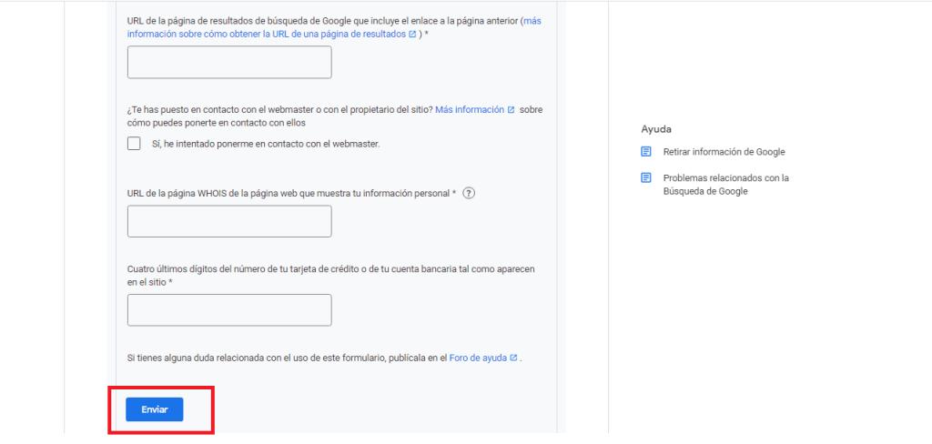 Solicitar La Eliminación De Información De Google guia reputationup