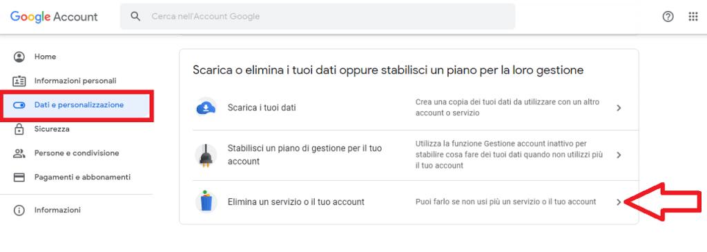 eliminare il tuo Account Google guida reputationup