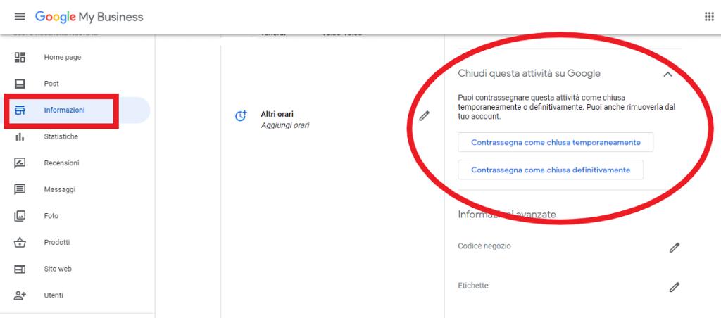 rimuovere un profilo dell'attività google my business guida reputationup