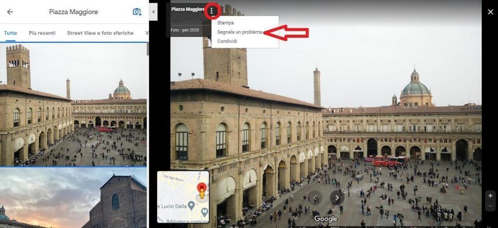 segnala foto google maps guida reputationup