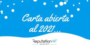 Carta abierta al 2021 reputationup