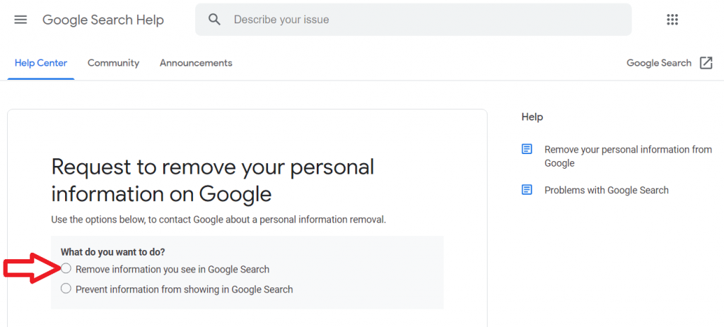 How to remove personal information from Google reutationup De Indexing Google