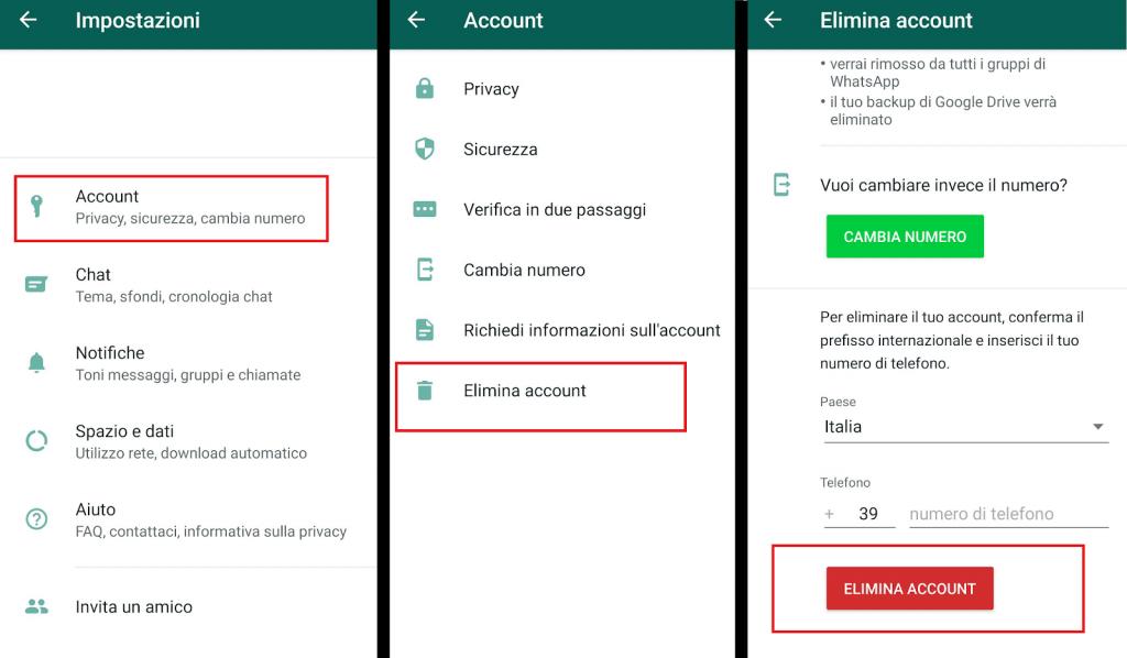 come eliminare account whatsapp reputationup