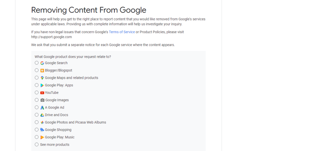 how to remove content from google reputationup
