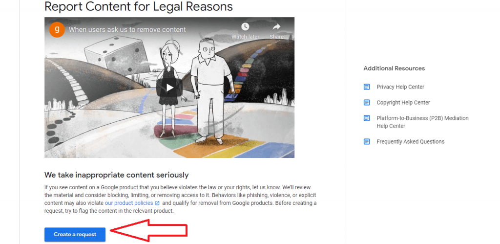 how to report content for legal reasons reputationup