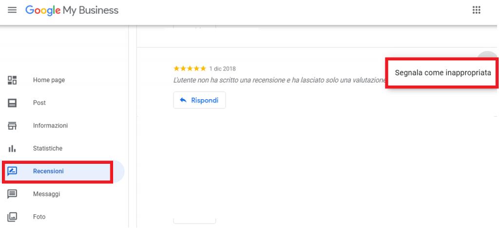 Come segnalare una recensione falsa a Google reputationup