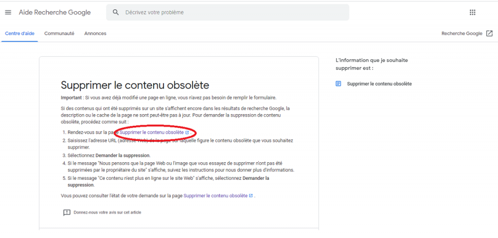 Comment supprimer des URL de Google reputationup