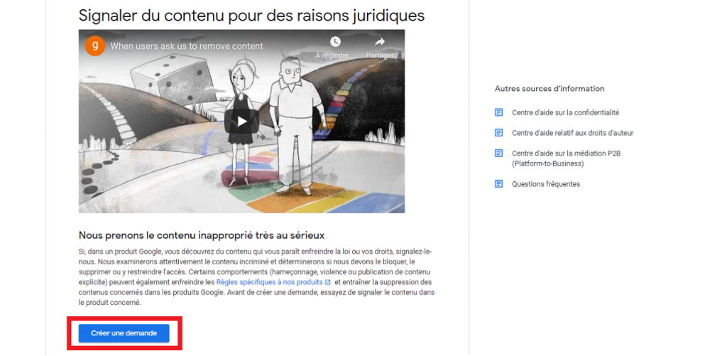 Comment supprimer des images de Google guida reputationup