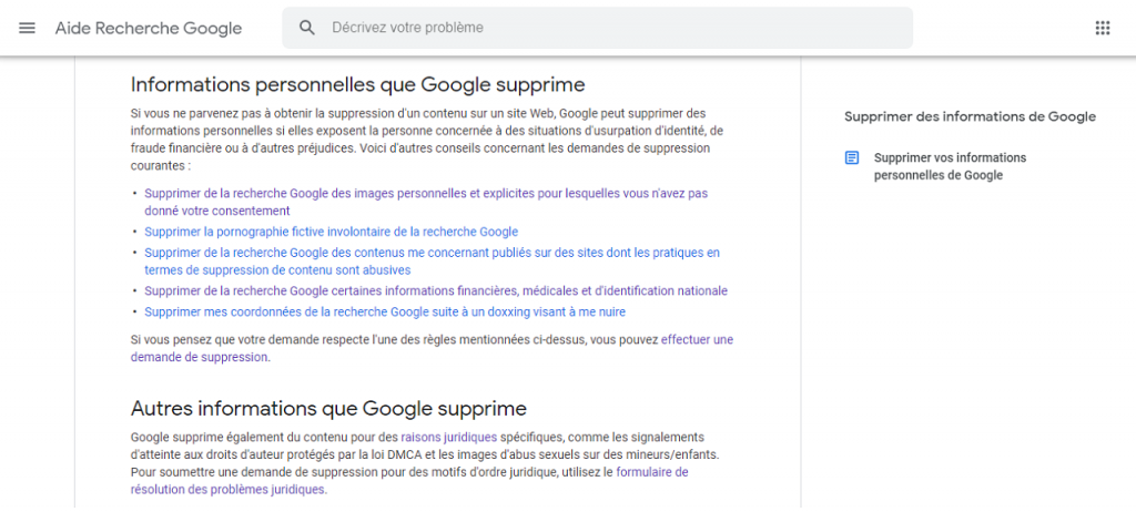 Comment supprimer des images de Google reputationup