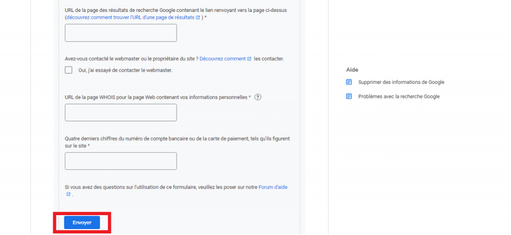 Comment supprimer des informations personnelles de Google guida reputationup