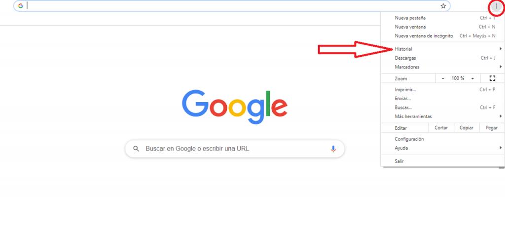 Cómo eliminar URL de Google Chrome reputationup