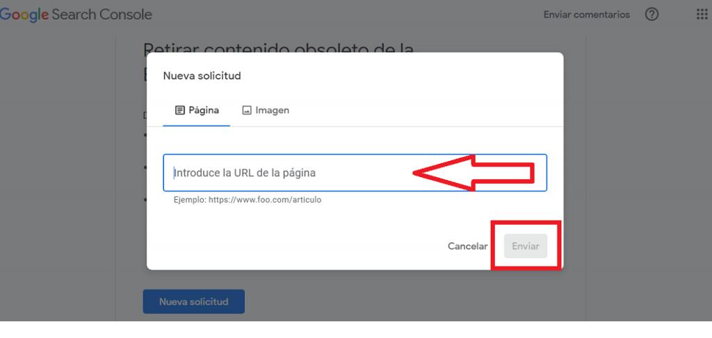 Eliminar contenido obsoleto de Webmaster Tool Remove guia reputationup