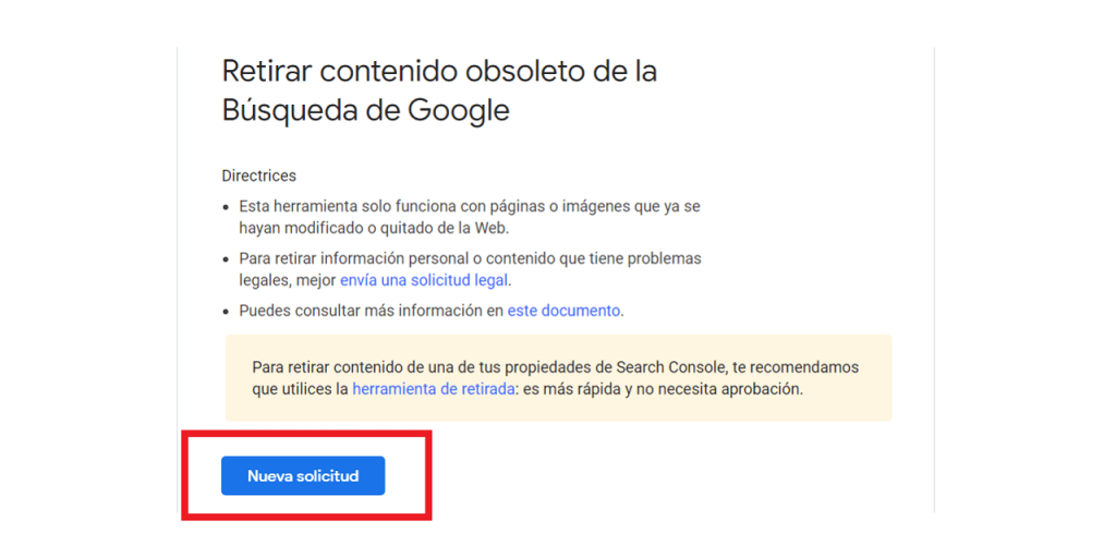 Eliminar contenido obsoleto de Webmaster Tool Remove reputationup