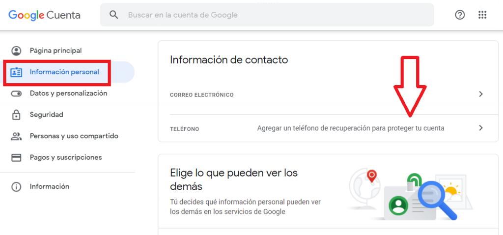 Eliminar un número de teléfono de Google reputationup