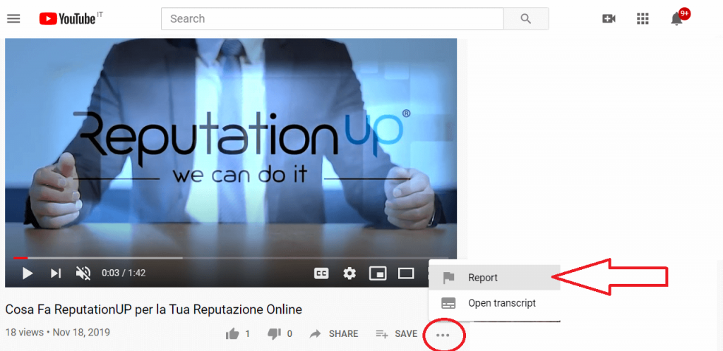 How many reports are needed to delete a video from Youtube reputationup