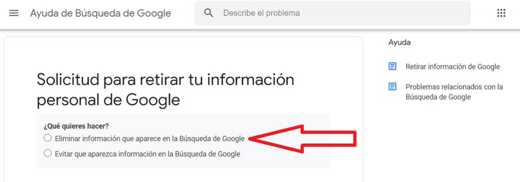 Cómo elimino mi información personal de Google ReputationUP