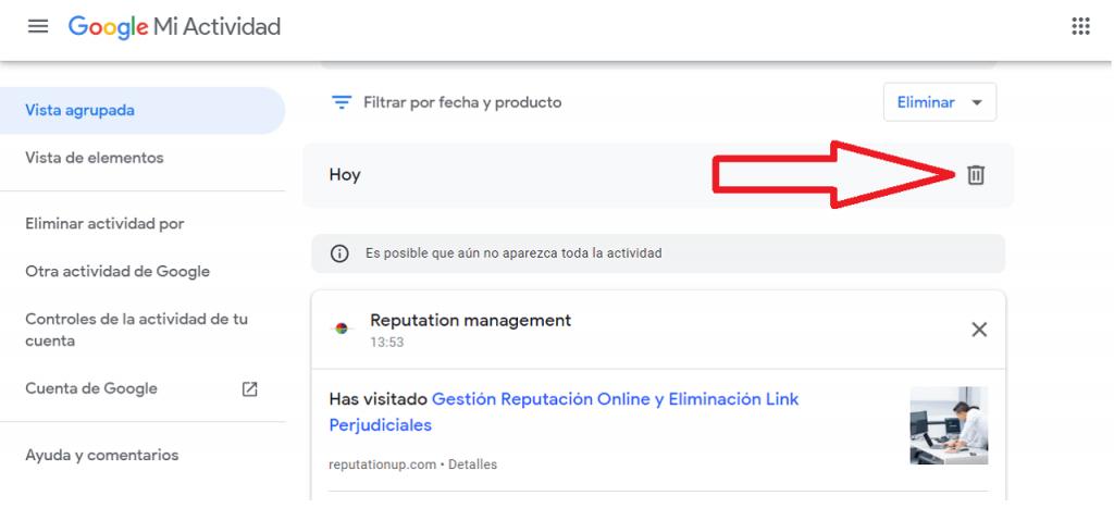 Cómo elimino mi información personal de Google guia mi actividad eliminar ReputationUP
