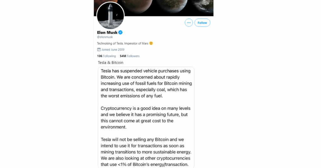 Elon Musk and his influence on Bitcoin ReputationUP