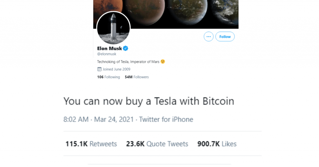 Elon Musk and his influence on Bitcoin guie ReputationUP
