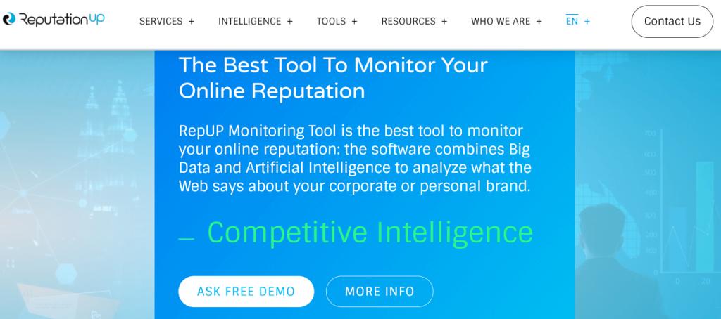 Best online reputation management software RepUP tool ReputationUP