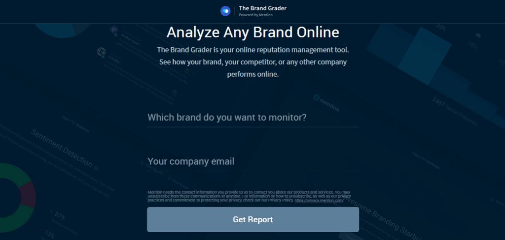 Best online reputation management software brand grader ReputationUP