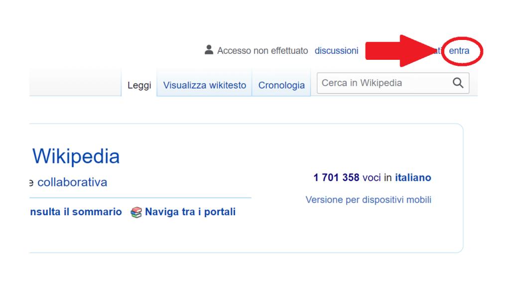 Come creare una pagina utente su Wikipedia ReputationUP
