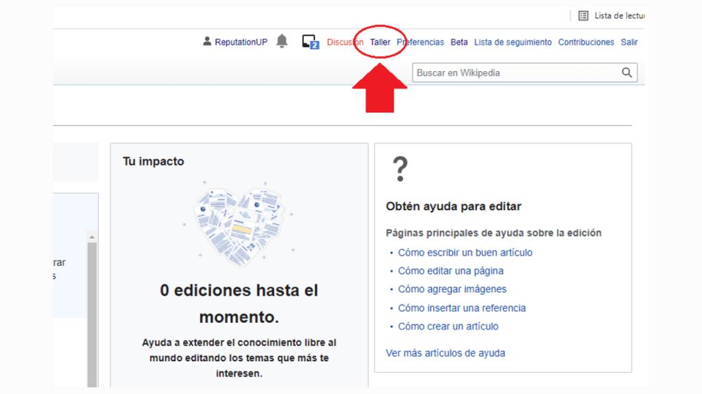 Cómo crear contenido en Wikipedia guia taller ReputationUP