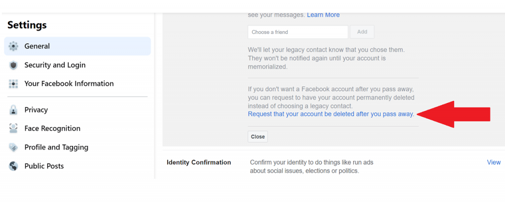 Facebook's cyber funeral guide settings request ReputationUP