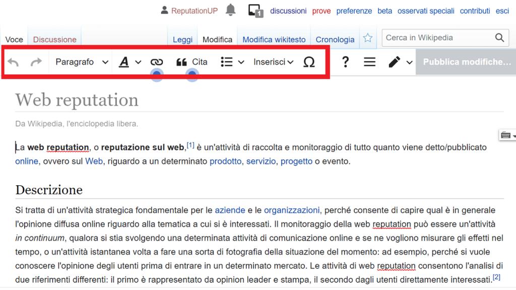 Modificare la pagina guida ReputationUPModificare la pagina guida ReputationUP