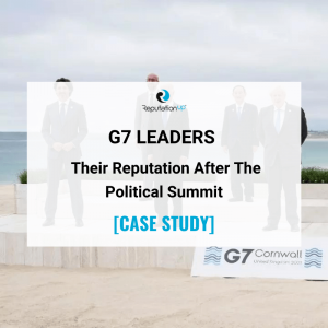 Online Reputation Of The Seven G7 Leaders [CASE STUDY]. ReputationUP. 2021
